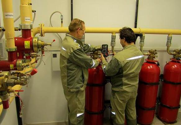 Обслуживание газового пожаротушения