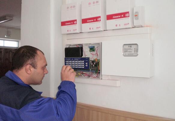 Установка охранно-пожарной сигнализации (монтаж опс)