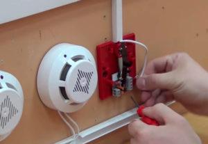 Установка пожарной сигнализации дома