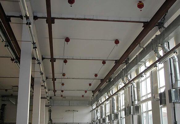 Установка пожарной сигнализации на складе