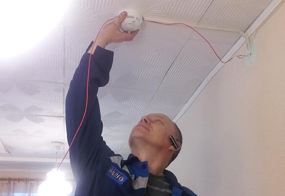 Установка пожарной сигнализации в школе