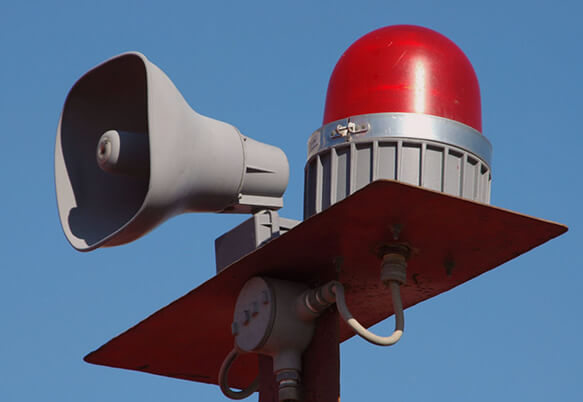 Установка звуковых оповещателей