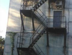 Видеонаблюдение на пожарной лестнице (фото 2)