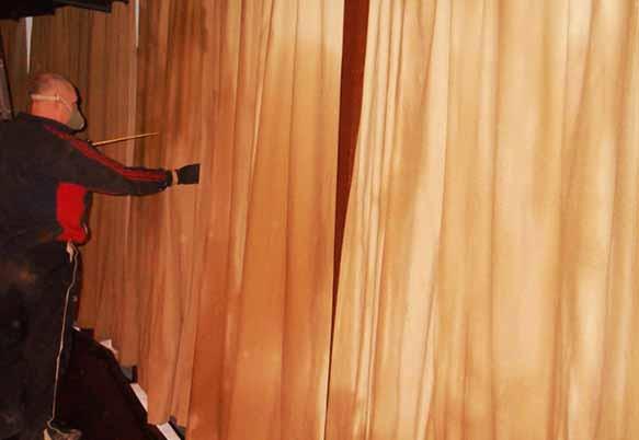 Огнезащита ткани и ковровых покрытий