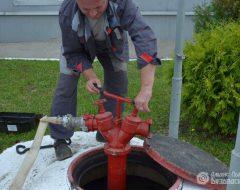 Испытания пожарных гидрантов (фото 1)