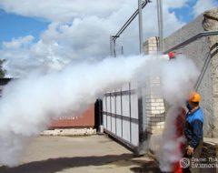 Проверка аэрозольного пожаротушения